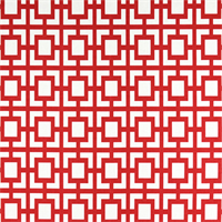Gigi Carmine Red Geometric Outdoor Fabric by Premier Prints.
