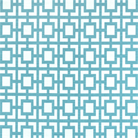 Gigi Coastal Blue Slub Geometric Print Fabric by Premier Prints