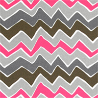 Seesaw Preppy Pink Striped Indoor/Outdoor Fabric by Premier Prints Swatch