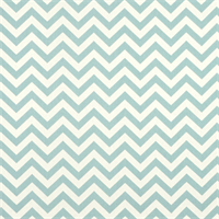 Zig Zag Village Blue and Natural Drapery Fabric by Premier Prints.