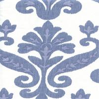 Tuscany Carnation Blue Ikat Linen Drapery Fabric