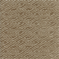M9610 Linen Tan Greek Key Chenille Upholstery Fabric by Barrow Merrimac