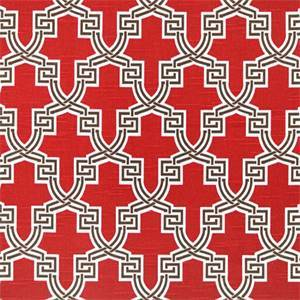 Hiro Timberwolf Red Slub Geometric Drapery Fabric by Premier Prints 30 Yard Bolt