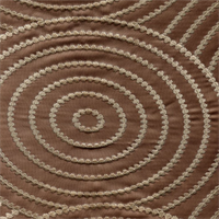 Mesmerizing Mink Brown Embroidered Drapery Fabric by Braemore Swatch