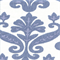Tuscany Carnation Blue Ikat Linen Drapery Fabric Swatch