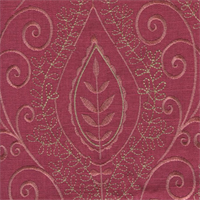 Society Hill Tulip Pink Embroidered Linen Drapery Fabric