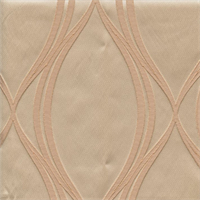 Majestic Wave Champagne Tan Contemporary Embossed Faux Silk Drapery Fabric