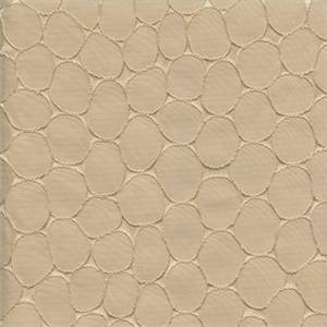Majestic Stone Alabaster Tan Contemporary Embossed Faux Silk Drapery Fabric