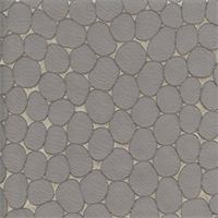 Majestic Stone Platinum Grey Contemporary Embossed Faux Silk Drapery Fabric