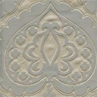 Majestic Heart Silver Contemporary Embossed Faux Silk Drapery Fabric