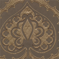 Majestic Heart Mocha Brown Contemporary Embossed Faux Silk Drapery Fabric