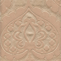 Majestic Heart Champagne Tan Contemporary Embossed Faux Silk Drapery Fabric