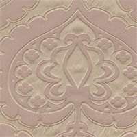 Majestic Heart Blush Pink Contemporary Embossed Faux Silk Drapery Fabric