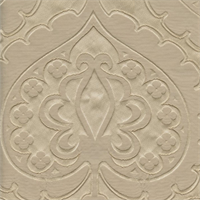 Majestic Heart Latte Tan Contemporary Embossed Faux Silk Drapery Fabric