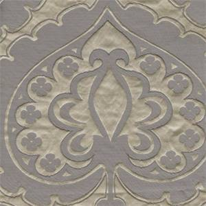 Majestic Heart Platinum Grey Contemporary Embossed Faux Silk Drapery Fabric