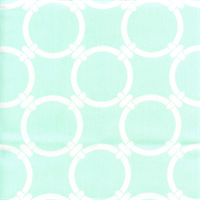 Linked Mint Twill Green Contemporary Drapery Fabric by Premier Prints