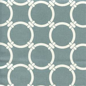 Linked Saffron Grey Macon Cotton Geometric Print by Premier Prints Swatch