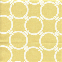 Linked Saffron Yellow Macon Cotton Geometric Print by Premier Prints Swatch