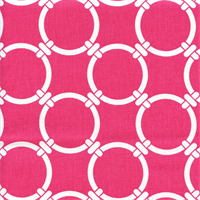 Linked Candy Pink Contemporary Drapery Fabric by Premier Prints