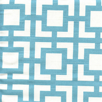 Gigi Coastal Blue Slub Geometric Print Fabric by Premier Prints Swatch