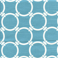 Linked Coastal Blue Slub Contemporary Drapery Fabric by Premier Prints