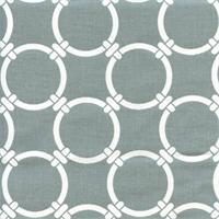 Linked Cool Grey Macon Cotton Geometric Print by Premier Prints