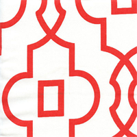 Bordeax Lava Red Contemporary Drapery Fabric by Premier Prints