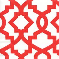 Sheffield Lava Red Contemporary Drapery Fabric Swatch