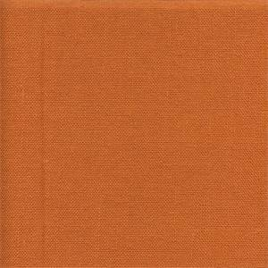 Liam Kumquat Orange Solid Linen Look Drapery Fabric Swatch