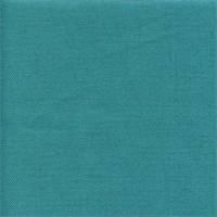 Liam Turquoise Blue Solid Linen Look Drapery Fabric Swatch