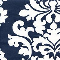 Berlin Premier Navy Slub Floral Drapery Fabric by Premier Prints Swatch