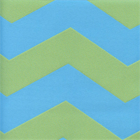 Sea Surf Pool Blue Green Chevron Outdoor Fabric