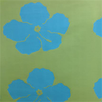 Island Bloom Pool Blue Green Floral Outdoor Fabric