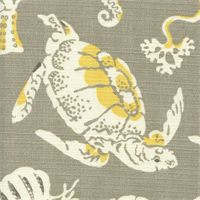 Sea Sparkle Sandrift Grey Animal Print Outdoor Fabric