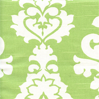 Berlin Kiwi Green Slub Floral Drapery Fabric by Premier Prints
