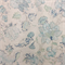 Jack O Bean Blue Tan Floral Linen Drapery Fabric Swatch