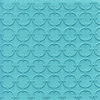 Full Circle Turquoise Blue Matelasse Fabric Swatch