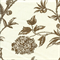 Solomons Seal Praline Brown Floral Print Drapery Fabric Swatch