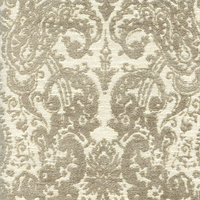 Gilsey Mushroom Grey Chenille Paisley Upholstery Fabric by Swavelle Mill Creek