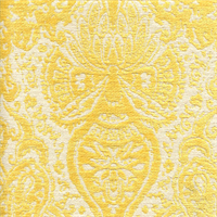 Gilsey Canary Yellow Chenille Paisley Upholstery Fabric by Swavelle Mill Creek