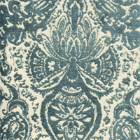 Gilsey Turquoise Blue Chenille Paisley Upholstery Fabric by Swavelle Mill Creek