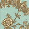 Solomons Seal Spa Green Floral Print Drapery Fabric Swatch