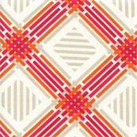 Pretty Edgy Tiger Lilly Diamond Outdoor Fabric Swatch