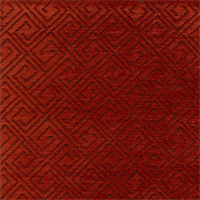 M9610 Paprika Orange Chenille Contemporary Upholstery Fabric by Barrow Merrimac