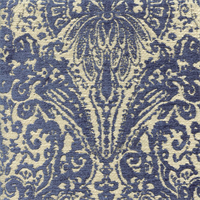 Gilsey Blue Chenille Paisley Upholstery Fabric by Swavelle Mill Creek Swatch