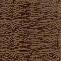 Novice Walnut Brown Chenille Animal Print Upholstery Fabric