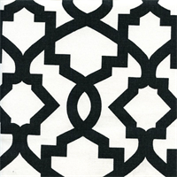 Sheffield Shadow Black Contemporary Drapery Fabric