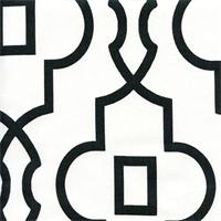 Bordeaux Shadow Black Contemporary Print Drapery Fabric by Premier Prints