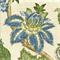 Boscobel Cornflower Blue Floral Drapery Fabric Swatch