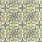 Interlocked Onyx Grey Yellow Contemporary Drapery Fabric Swatch